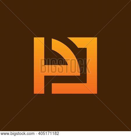Alphabet Letter Icon Logo Pj Or Jp - Vector