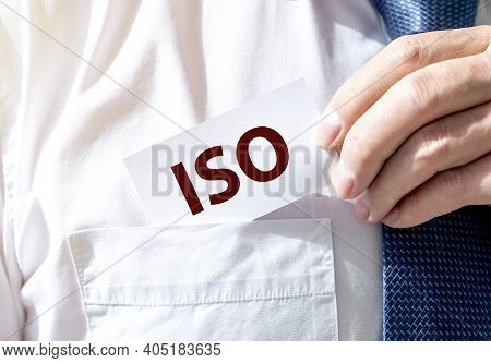 Iso Acronym, Inscription. Standard And Security Control
