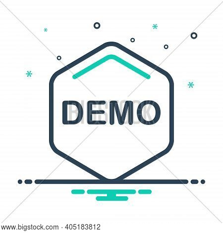 Mix Icon For Demo Exhibition Demonstration Object