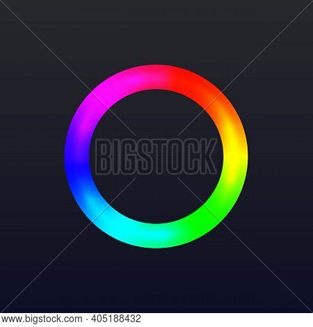 Round Color Ring With Gradient. Circle Wheel With Colors Of Rainbow Vector Illustration. Spectrum Fr