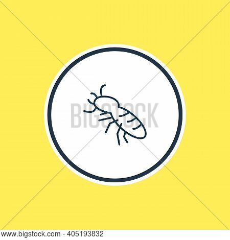Vector Illustration Of Thermit Icon Line. Beautiful Animals Element Also Can Be Used As Termite Icon