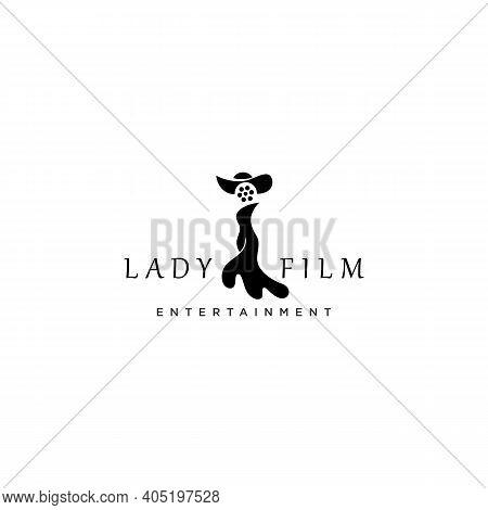 Woman And Film Reel, Good Design For Film Logo