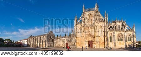 Portugal, Batalha, October 05, 2018: The Monastery Of Batalha Is A Dominican Convent In The Civil Pa