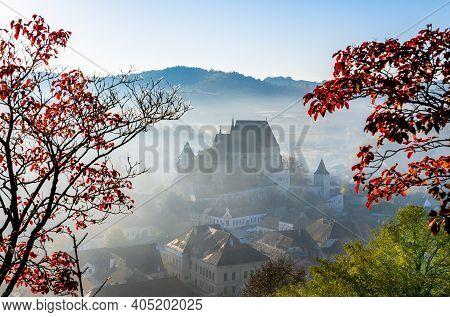 Biertan, Romania. Saxon Fortified Church In Transylvania, Unesco Heritage Of Romania Travel Backgrou