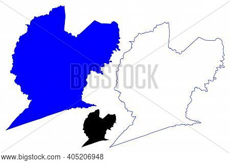 Lincoln County, State Of West Virginia (u.s. County, United States Of America, Usa, U.s., Us) Map Ve