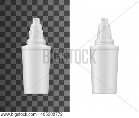 Water Filtration Pitcher Cartridge Realistic Mockup. Home Water Treatment And Desalination Filter, D
