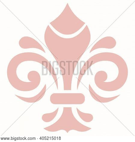 Oriental Vector Pattern With Arabesques And Floral Pink Elements. Traditional Classic Ornament With