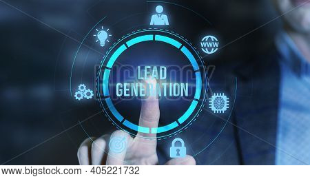 Internet, Business, Technology And Network Concept.lead Generation