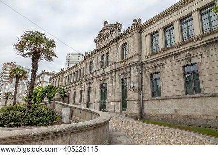 La Coruna - Spain - August 01, 2012: Public Infant School And Eusebio Da Guarda School, In The Ponte