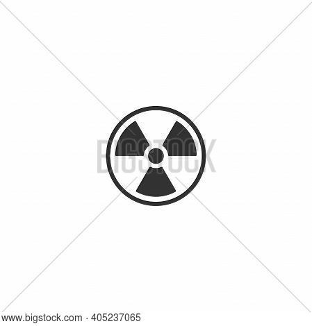 Radiation Sign. Toxic Or Poisonous. Round Icon Isolated On White. Danger Sign. Toxic Place, Atmosphe
