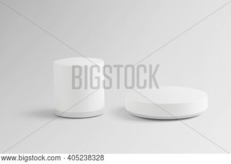 Wireless speakers mockup digital device