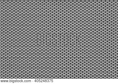 Macrotexture Of Textile Material Or Coarse Fabric Close-up With Symmetric And Identical Mesh Plexus