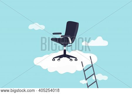 Career Success, Job Position Promoted To Management Opportunity Or Ladder Of Success Concept, Manage