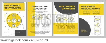 Gun Control Opponents Brochure Template. Criminal Access To Guns. Flyer, Booklet, Leaflet Print, Cov