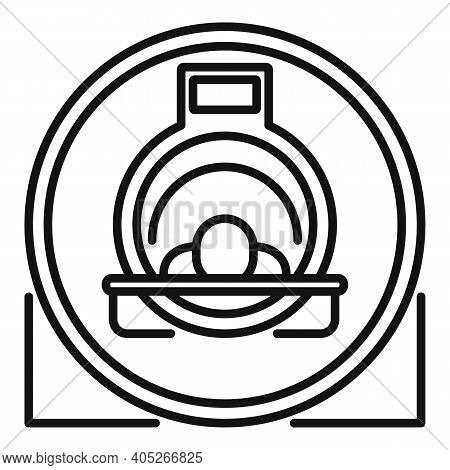 Man Resonance Imaging Diagnostic Icon. Outline Man Resonance Imaging Diagnostic Vector Icon For Web