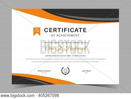Certificate Of Appreciation Template, Certificate Of Achievement, Awards Diploma Template