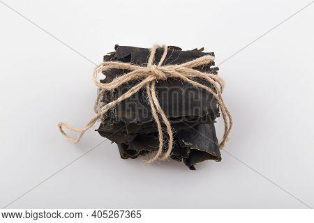 Ingredients Of Asia Food Broth, Dried Kelp.
