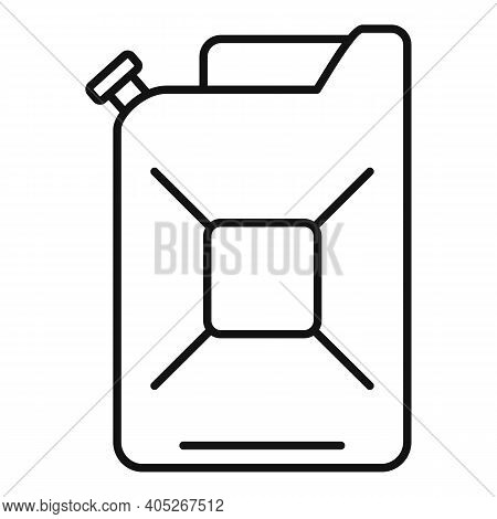 Metal Canister Icon. Outline Metal Canister Vector Icon For Web Design Isolated On White Background
