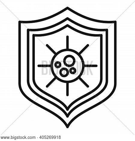 Biohazard Shield Icon. Outline Biohazard Shield Vector Icon For Web Design Isolated On White Backgro
