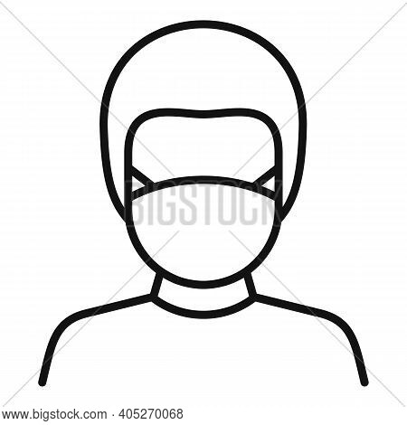 Biohazard Lab Man Icon. Outline Biohazard Lab Man Vector Icon For Web Design Isolated On White Backg