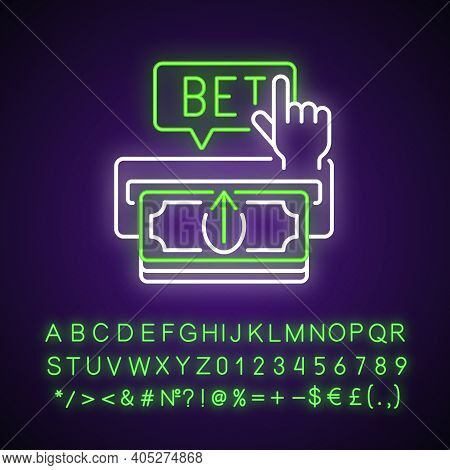Making Deposit Neon Light Icon. Cash Transfer. Joining Online Gambling Site. Payment Method. Outer G
