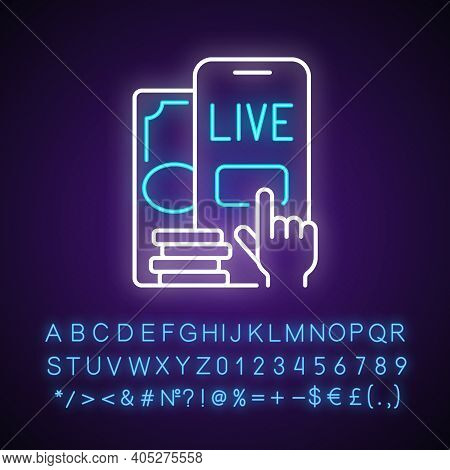 Live Betting Neon Light Icon. In-game Betting. Bettor Ability Making Additional Wagers. Outer Glowin