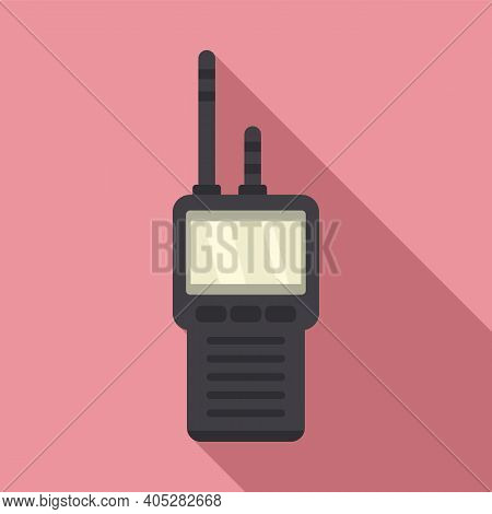Investigator Walkie Talkie Icon. Flat Illustration Of Investigator Walkie Talkie Vector Icon For Web