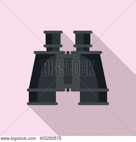Investigator Binoculars Icon. Flat Illustration Of Investigator Binoculars Vector Icon For Web Desig