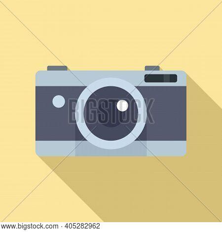 Investigator Camera Icon. Flat Illustration Of Investigator Camera Vector Icon For Web Design
