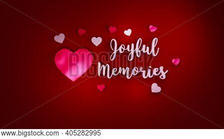 Forever Together Hearts Valentines Love Forever 3d Rendering 8k Resolution