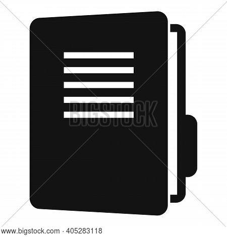 Investigator Folder Icon. Simple Illustration Of Investigator Folder Vector Icon For Web Design Isol