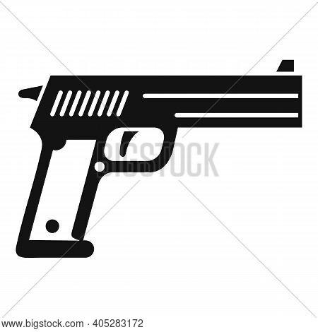 Investigator Pistol Icon. Simple Illustration Of Investigator Pistol Vector Icon For Web Design Isol