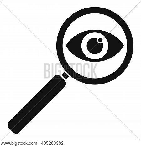 Investigator Magnifier Icon. Simple Illustration Of Investigator Magnifier Vector Icon For Web Desig