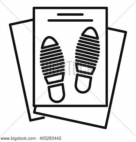 Investigator Papers Icon. Outline Investigator Papers Vector Icon For Web Design Isolated On White B