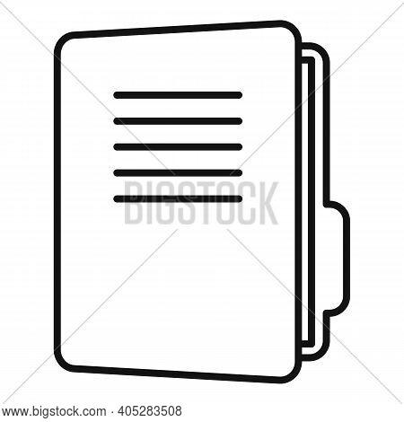 Investigator Folder Icon. Outline Investigator Folder Vector Icon For Web Design Isolated On White B