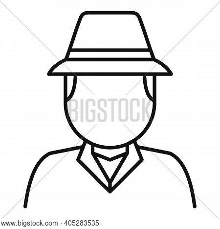 Investigator Icon. Outline Investigator Vector Icon For Web Design Isolated On White Background