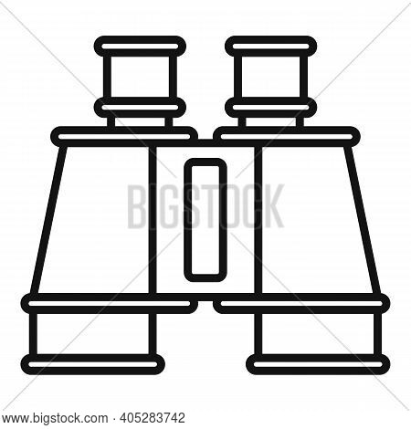 Investigator Binoculars Icon. Outline Investigator Binoculars Vector Icon For Web Design Isolated On