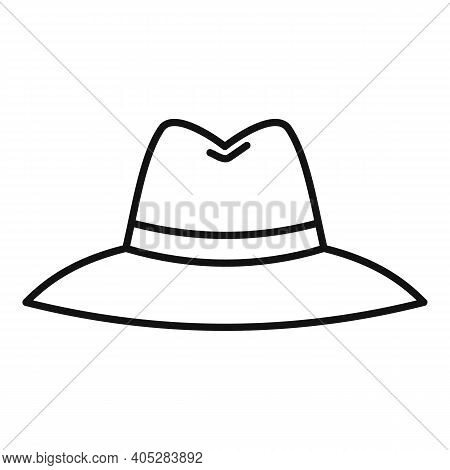 Investigator Hat Icon. Outline Investigator Hat Vector Icon For Web Design Isolated On White Backgro