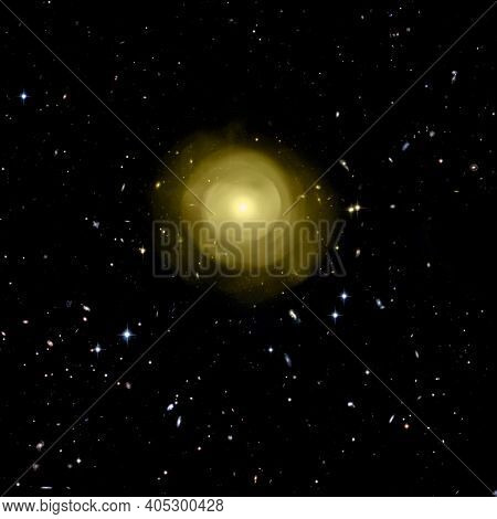 Supernova Core Pulsar Neutron Star. , Elements Of This Image Furnished By Nasa.