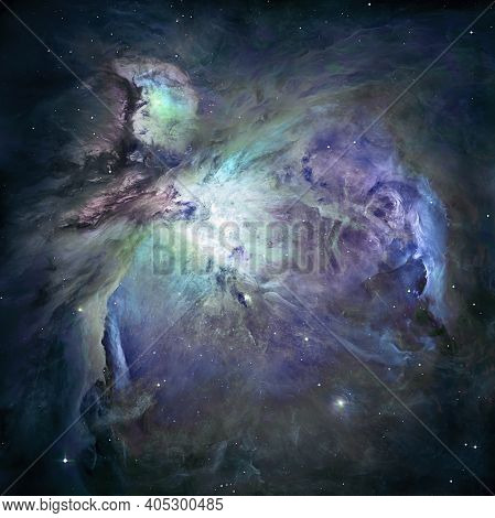 Great Nebula In Orion, Supernova Core Pulsar Neutron Star. Elements Of This Image Furnished By Nasa.