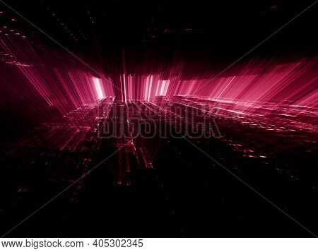Abstract digital space background texture. Fractal graphics 3d illustration.