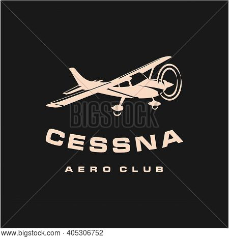 Light Small Airplane Design, Airplane Club Or Travel Logo Design
