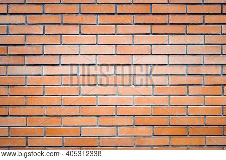 Old Brick Wall Background. Brickwork Or Stonework Interior Concrete Grid Uneven Bricks Design Stack.