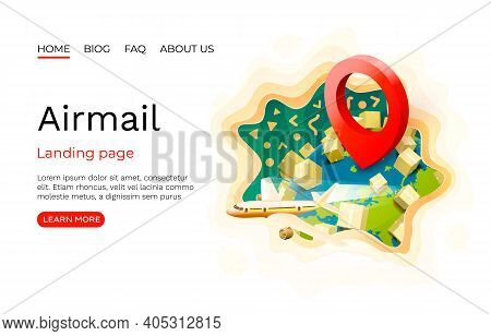 Airmail, Purchase Delivery, Courier Delivery Address. Location Package Navigation, App Services Logi