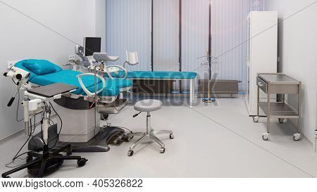 Modern Interior Of The Gynecological Office, Women's Health