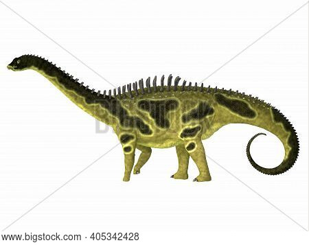 Agustinia Dinosaur Side Profile 3d Illustration - Agustinia Was A Herbivorous Armored Dinosaur That