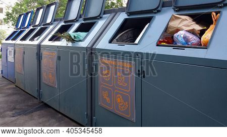 Waste Bins For Mixed And Separate Waste Collection, Moscow, 22.06.2020
