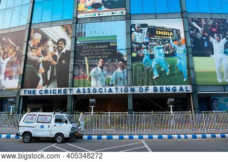 Kolkata, West Bengal, India - 12th January 2020 : The Eden Gradens, Office Of The Cab Or Cricket Ass