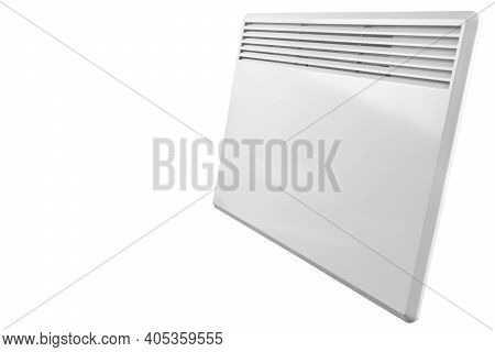 Electric Heater Battery Isolated On White Background. Radiator. Home Electric Heater Convector Isola