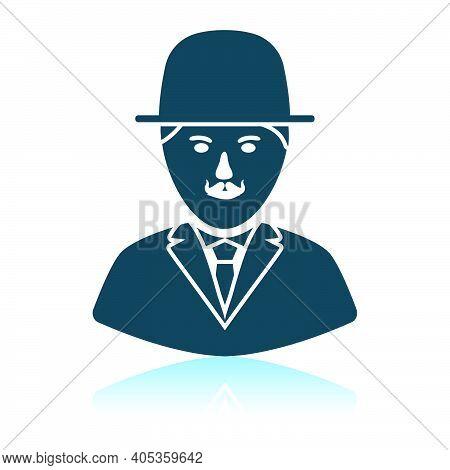 Detective Icon. Shadow Reflection Design. Vector Illustration.